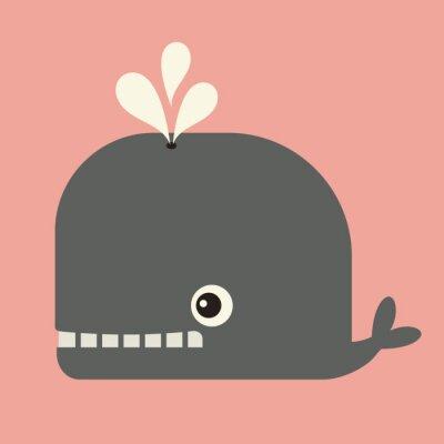 Obraz wektor uroczy wieloryb
