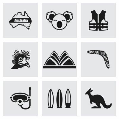 Obraz Wektor zestaw ikon Australii