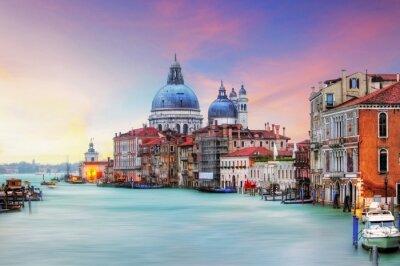 Obraz Wenecja - Canal Grande i Bazylika Santa Maria della Salute