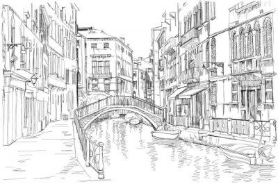 Obraz Wenecja - Fondamenta Rio Marin