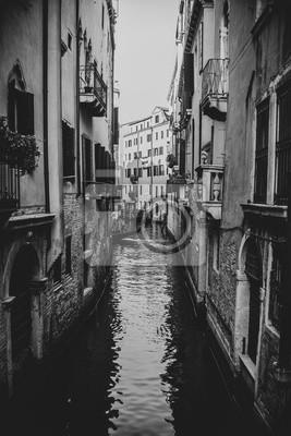 Obraz Wenecja Włochy w czarny i biały, rocznika pojęciu