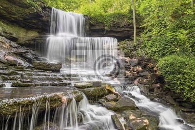 West Milton Kaskady, wodospad w Miami County, Ohio