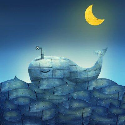 Obraz Whale in Blue