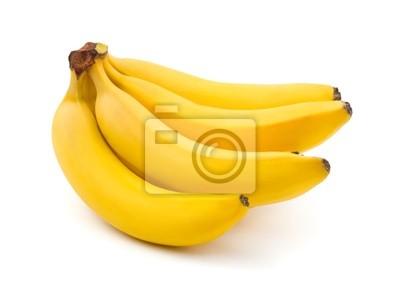 Wiązka bananów na białym tle