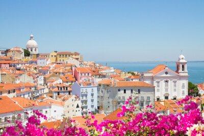 Obraz Widok Alfama, Lizbona, Portugalia