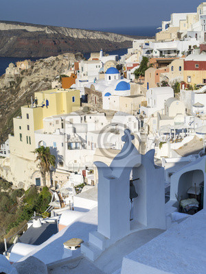 widok na miasto Oia na Santorini