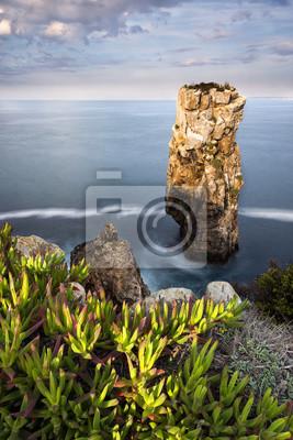 Widok na morze i skały w Peniche, Portugalia, 2015