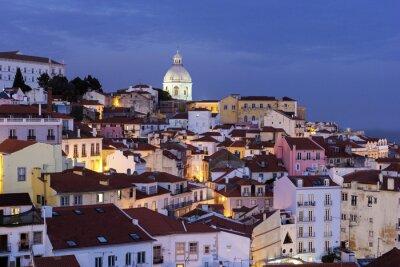 Obraz Widok na Starym Mieście w Lizbonie w Portugalii
