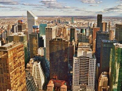 Obraz Widok z lotu ptaka w Nowym Jorku.