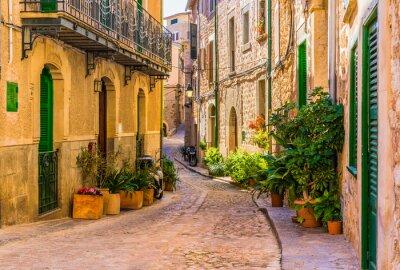Obraz Widok z romantycznej uliczce starej Mediterranean Village w Hiszpanii