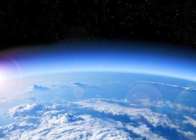Obraz Widok Ziemi z przestrzeni kosmicznej
