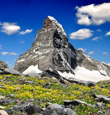widoki na Matterhorn - Alpy Szwajcarskie