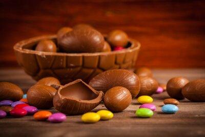 Obraz Wielkanoc czekoladowe tła