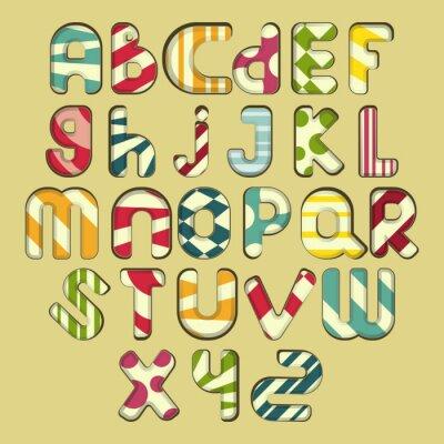 Obraz wielokolorowe paski alfabet