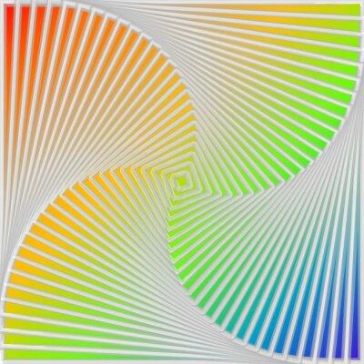 Obraz Wielokolorowy ruch iluzja projekt tło wirowa