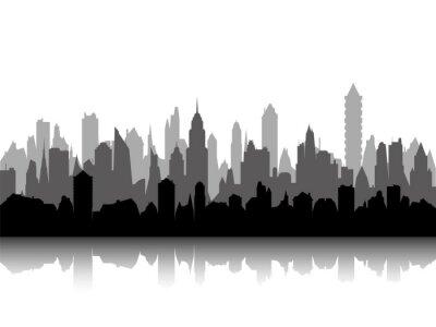 Obraz Wielopoziomowe sylwetka pejzaż