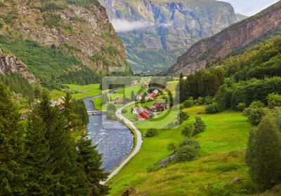 Wieś w Flam - Norwegia