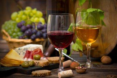 Obraz Wino i ser