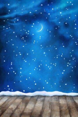 Obraz Winter Night Malowanie tła