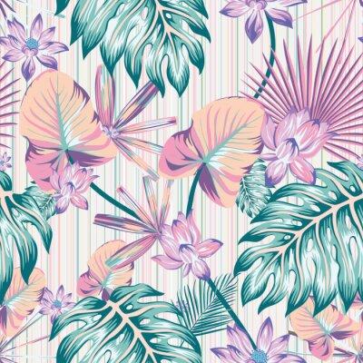 Obraz Winter tropical pattern seamless stripe background