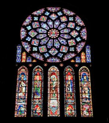 Witraże z katedry w Chartres, Francja