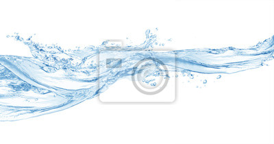 Obraz Woda, plusk wody na białym tle, plusk wody