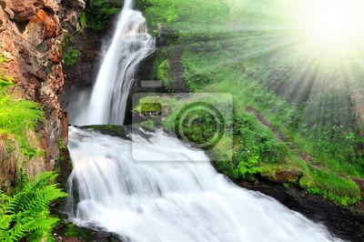 Wodospad Cavalese, Val di Fiemme, Włochy