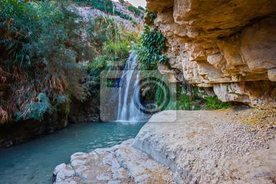 Wodospad i malowniczy staw