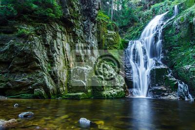 Obraz Wodospad Kamieńczyka, najwyższy wodospad w polskich Karkonoszach Moutain, niedaleko Szklarskiej Poręby.