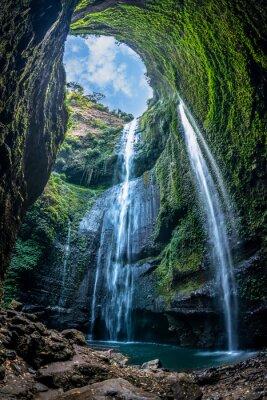 Obraz Wodospad Madakaripura to najwyższy wodospad w głębokim lesie we wschodniej Jawie w Indonezji.