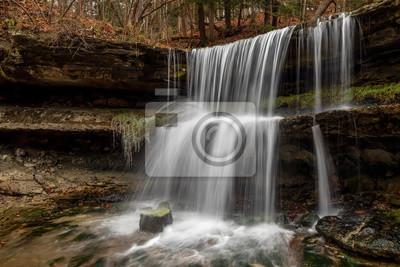 Wodospad w Oglebay, Wheeling, Wirginia Zachodnia