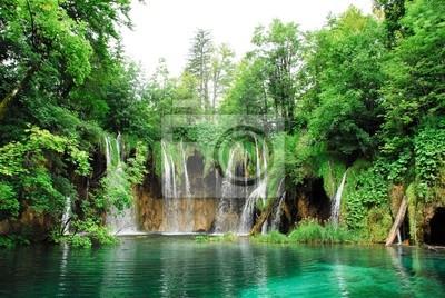 Wodospad w parku narodowego Plitwickich