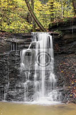 Wodospad w parku Piatt - hrabstwo Monroe w stanie Ohio