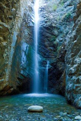 Obraz Wodospady Chantara w Trodos górach, na Cyprze