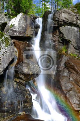 Wodospady w strumieniu Studeny potok w Wysokie Tatry, Słowacja