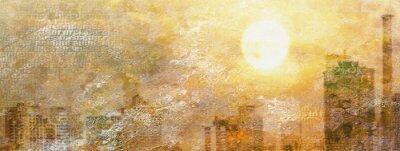 Obraz Wrażenie Miasto słońca