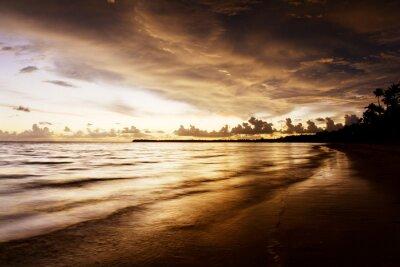 Obraz wschód słońca na plaży Karaibów