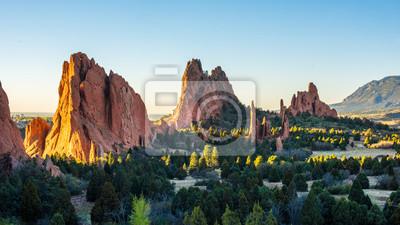 Obraz Wschód słońca w Garden of the Gods w Colorado Springs, Kolorado