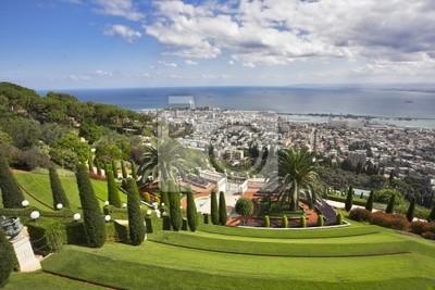 Wspaniały krajobraz - Bahai ogrodów, Haifa