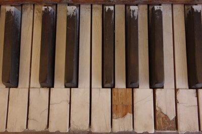 Obraz Wyblakły Piano Keys Ivory