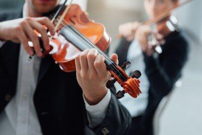 Obraz Wydajność duet skrzypce