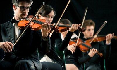 Obraz Wykonywanie orkiestra skrzypce