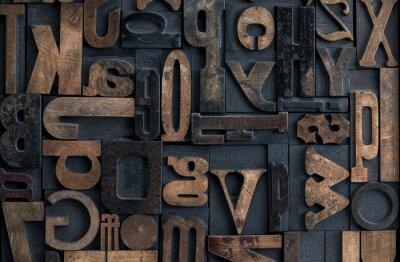 Obraz wypukłego alfabetu