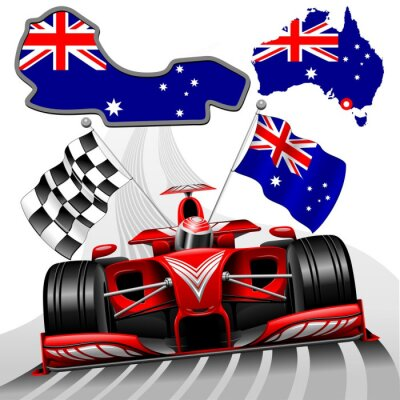 Obraz Wyścig Formuły 1 Red Car GP Australii