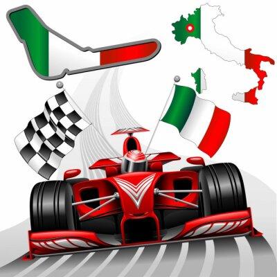 Obraz Wyścig Formuły 1 Red Car GP Monza Włochy