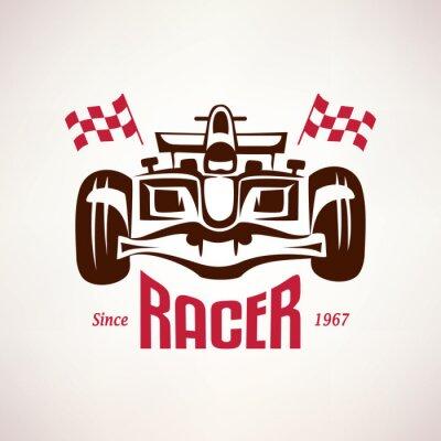 Obraz Wyścigi Formuły samochód godło, symbol wyścig bolid