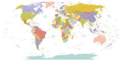 Obraz Wysokie map.Layers świata szczegółowości używane.