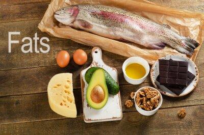 Obraz Wysokiej zawartości tłuszczu żywności, które są zdrowe