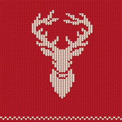 Obraz Wzór dzianiny z jelenia