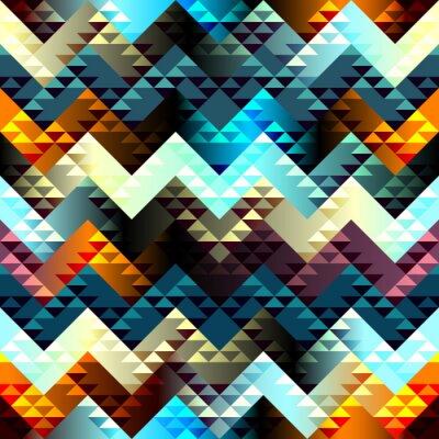 Obraz Wzór w stylu Azteków na wysuwanym tle.